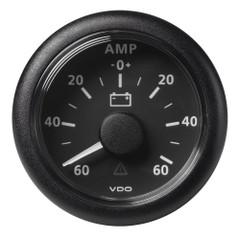 """VDO Marine 2-1\/16"""" (52mm) Viewline Battery Status Gauge -60\/+60 AMP - 8 to 32V - Black Dial  Bezel [A2C59512328]"""