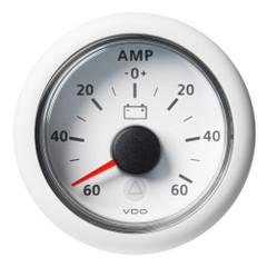 "VDO Marine 2-1\/16"" (52mm) Viewline Battery Status Gauge -60\/+60 AMP - 8 to 32V - White Dial  Bezel [A2C59512330]"