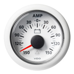 "VDO Marine 2-1\/16"" (52mm) Viewline Battery Status Gauge -150\/+150 AMP - 8 to 32V - White Dial  Bezel [A2C59512331]"
