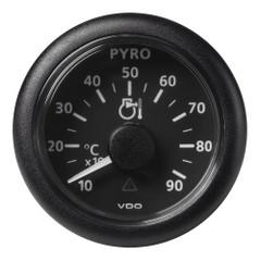 "VDO Marine 2-1\/16"" (52mm) Viewline Pyrometer - 900C\/1650F - 8 to 32V - Black Dial  Bezel [A2C59512332]"