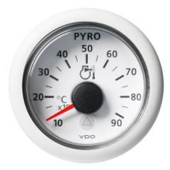 "VDO Marine 2-1\/16"" (52mm) Viewline Pyrometer - 900C\/1650F - 8 to 32V - White Dial  Bezel [A2C59512333]"