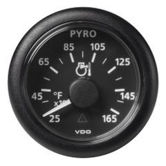 "VDO Marine 2-1\/16"" (52mm) Viewline Pyrometer - 1650F\/900C - 8 to 32V - Black Dial  Bezel [A2C59512334]"