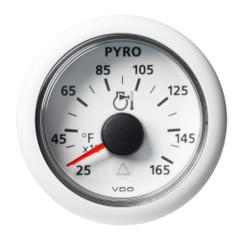 "VDO Marine 2-1\/16"" (52mm) Viewline Pyrometer - 1650F\/900C - 8 to 32V - White Dial  Bezel [A2C59512335]"