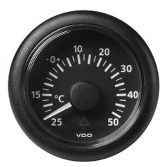 "VDO Marine 2-1\/16"" (52mm) Viewline Outside Temperature - +50C\/+120F - 8 to 32V - Black Dial  Bezel [A2C59512336]"