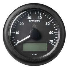 "VDO Marine 3-3\/8"" (85 mm) ViewLine Tachometer w\/Multi-Function Display - 0 to 7000 RPM - Black Dial  Bezel [A2C59512394]"