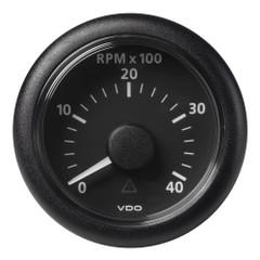 """VDO Marine 2-1\/16"""" (52mm) Viewline Tachometer - 0 to 4000 RPM - 8 to 32V - Black Dial  Bezel [A2C59512344]"""