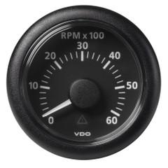 """VDO Marine 2-1\/16"""" (52mm) Viewline Tachometer - 0 to 6000 RPM - 8 to 32V - Black Dial  Bezel [A2C59512345]"""