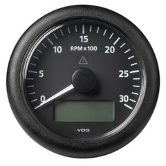 "VDO Marine 3-3\/8"" (85 mm) ViewLine Tachometer w\/Multi-Function Display - 0 to 3000 RPM - Black Dial  Bezel [A2C59512390]"
