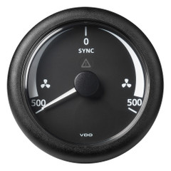"VDO Marine 3-3\/8"" (85 mm) ViewLine Synchronizer -500\/+500 RPM - 8 to 32V - Black Dial  Bezel [A2C59512402]"