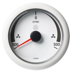 "VDO Marine 3-3\/8"" (85 mm) ViewLine Synchronizer -500\/+500 RPM - 8 to 32V - White Dial  Bezel [A2C59512403]"