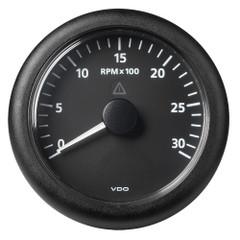 """VDO Marine 3-3\/8"""" (85MM) ViewLine Tachometer 3000 RPM - 8V-32V - Black Dial  Bezel [A2C59512430]"""