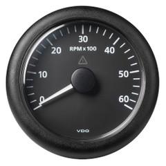 """VDO Marine 3-3\/8"""" (85MM) ViewLine Tachometer 6000 RPM - 8V-32V - Black Dial  Bezel [A2C59512432]"""