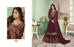 Maroon color Party Wear Indowestern Party wear Suit