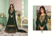 Bottle Green color Party Wear Indowestern Party wear Suit