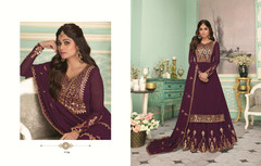 Purple color Party Wear Indowestern Party wear Suit