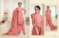 Pink color Chinnon Fabric Suit