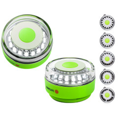 Navisafe Navilight All-White 5 Mode 360 Rescue 2NM w\/Green Magnet Base [010-1]