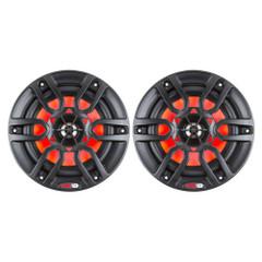 "DS18 HYDRO 8"" 2-Way Marine Speakers w\/RGB LED Lights 375W - Matte Black [NXL-8BK]"