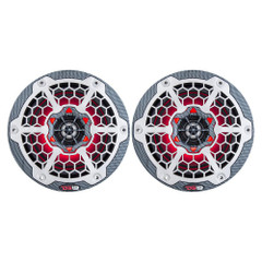 "DS18 HYDRO 6.5"" 2-Way Marine Speakers w\/RGB LED Lights 375W - Black Carbon Fiber [CF-65]"