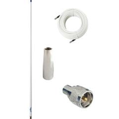 Glomex 4 Glomeasy VHF Antenna 3dB w\/FME Termination, 6M Coaxial Cable, RA300 Adapter  PL259 Connector [RA300PBKIT]