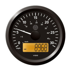 "VDO Marine 3-3\/8"" (85 mm) ViewLine Speedometer - 0 to 30 MPH - 12\/24V - Black Dial  Triangular Bezel [A2C59512372]"
