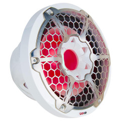 """DS18 HYDRO 12"""" Subwoofer w\/RGB Lights - 700W - White [NXL-12SUB\/WH]"""