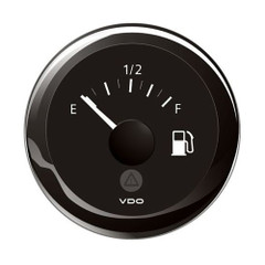 "VDO Marine 2-1\/16"" (52mm) ViewLine Tank Level Gauge E\/F - 3-1800 Ohm - 8-32V - Black Dial  Bezel [A2C59514091]"