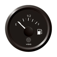 "VDO Marine 2-1\/16"" (52mm) ViewLine Tank Level Gauge E\/F - 3-1800 Ohm - 8-32V - Black Dial  Triangular Bezel [A2C59514093]"