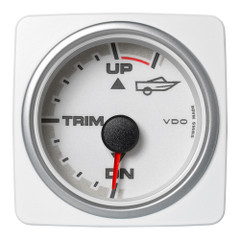 "VDO Marine 2-1\/16"" (52mm) AcquaLink Engine Trim Gauge Up\/Down - 12\/24V - White Dial  Bezel [A2C1338710001]"
