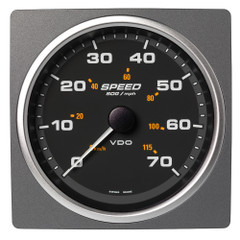 "VDO Marine 4-3\/8"" (110mm) AcquaLink Speed Over Ground 70 MPH\/115 KMH - 12\/24V - Black Dial  Bezel [A2C59501909]"
