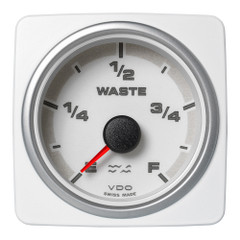 "VDO Marine 2-1\/16"" (52mm) AcquaLink Waste Water Gauge Empty\/Full - 12\/24V - White Dial  Bezel [A2C1338760001]"