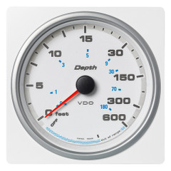 "VDO Marine 4-3\/8"" (110mm) AcquaLink Depth Gauge 660\/220M - 12\/24V - White Dial  Bezel [A2C1338820001]"