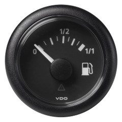 "VDO Marine 52mm (2-1\/16"") ViewLine Fuel Tank Level Gauge 0-1\/1 - 8\/32V - 90-4 OHM - Black Dial  Round Bezel [A2C59514079]"