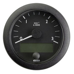 """VDO Marine 3-3\/8"""" (85mm) OceanLink Tachometer 3000 RPM SAE J 1939 - 12-24V - Black Dial  Bezel [N02-012-920]"""