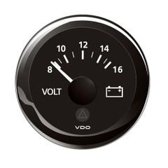 "VDO Marine 2-1\/16"" (52mm) ViewLine Voltmeter - 8-16V - Black Dial  Bezel [A2C59512545]"