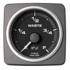 "VDO Marine 2-1\/16"" (52mm) AcquaLink Waste Water Gauge Empty\/Full - 12\/24V - Black Dial  Bezel [A2C59501928]"