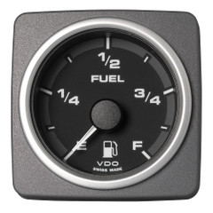 "VDO Marine 2-1\/16"" (52mm) AcquaLink Fuel Level Gauge Empty\/Full - 12\/24V - Black Dial  Bezel [A2C59501930]"