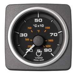 """VDO Marine 2-1\/16"""" (52mm) AcquaLink Pyrometer Gauge 900C\/1650F - 12\/24V - Black Dial  Bezel [A2C59501933]"""