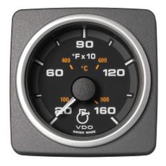 """VDO Marine 2-1\/16"""" (52mm) AcquaLink Pyrometer Gauge 1650F\/900C - 12\/24V - Black Dial  Bezel [A2C59501934]"""