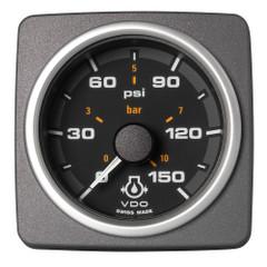 """VDO Marine 2-1\/16"""" (52mm) AcquaLink Engine Oil Pressure 150 PSI\/10 Bar - 12\/24V - Black Dial  Bezel [A2C59501936]"""