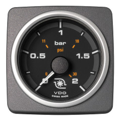 "VDO Marine 2-1\/16"" (52mm) AcquaLink Boost Pressure Gauge 2 Bar\/30 PSI - 12\/24V - Black Dial  Bezel [A2C59501944]"