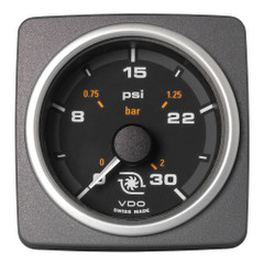 "VDO Marine 2-1\/16"" (52mm) AcquaLink Boost Pressure Gauge 30 PSI\/2 Bar - 12\/24V - Black Dial  Bezel [A2C59501945]"