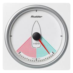 """VDO Marine 4-3\/8"""" (110mm) AcquaLink Rudder Angle Gauge 80 - 12\/24V - White Dial  Bezel [A2C1338860001]"""