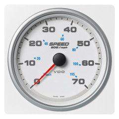 "VDO Marine 4-3\/8"" (110mm) AcquaLink Speed Over Ground 70 MPH\/155 KMH - 12\/24V - White Dial  Bezel [A2C1338900001]"