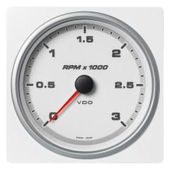 """VDO Marine 4-3\/8"""" (110mm) AcquaLink Tachometer 3000 RPM - 12\/24V - White Dial  Bezel [A2C1338910001]"""