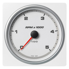 """VDO Marine 4-3\/8"""" (110mm) AcquaLink Tachometer 5000 RPM - 12\/24V - White Dial  Bezel [A2C1338920001]"""