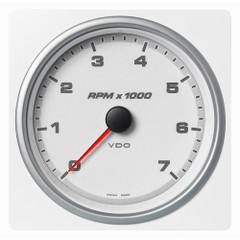 """VDO Marine 4-3\/8"""" (110mm) AcquaLink Tachometer 7000 RPM - 12\/24V - White Dial  Bezel [A2C1338930001]"""