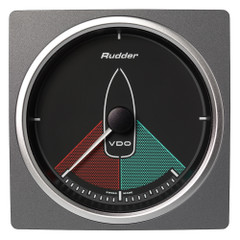 """VDO Marine 4-3\/8"""" (110mm) AcquaLink Rudder Angle Gauge 80 - 12\/24V - Black Dial  Bezel [A2C59501912]"""