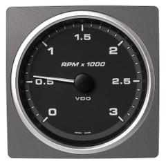 """VDO Marine 4-3\/8"""" (110mm) AcquaLink Tachometer 3000 RPM - 12\/24V - Black Dial  Bezel [A2C59501913]"""