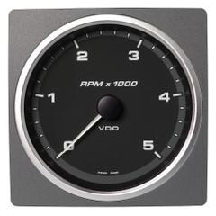 """VDO Marine 4-3\/8"""" (110mm) AcquaLink Tachometer 5000 RPM - 12\/24V - Black Dial  Bezel [A2C59501914]"""